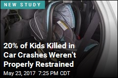 20% of Kids Killed in Car Crashes Weren't Properly Restrained