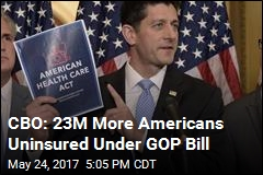 CBO: 23M More Americans Uninsured Under AHCA