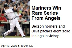 Mariners Win Rare Series From Angels