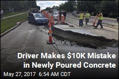 Driver Makes $10K Mistake in Newly Poured Concrete