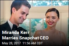 Miranda Kerr Marries Snapchat CEO