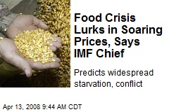 Food Crisis Lurks in Soaring Prices, Says IMF Chief