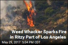 Weed Whacker Sparks 30-Acre Brush Fire
