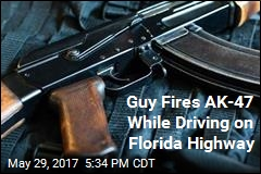 Guy Fires AK-47 While Driving on Florida Highway