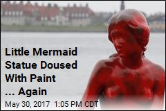Little Mermaid Statue Doused With Paint ... Again
