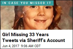 Girl Missing 33 Years Tweets via Sheriff's Account