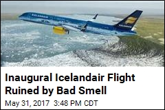 Inaugural Icelandair Flight Ruined by Bad Smell