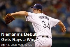 Niemann's Debut Gets Rays a Win