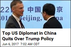 Top US Diplomat in China Quits Over Climate Pullout