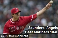 Saunders, Angels Beat Mariners 10-5