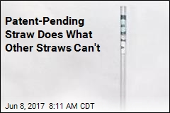 Patent-Pending Straw Does What Other Straws Can't