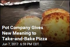 Medical Pot Dispensary Selling Marijuana Pizza