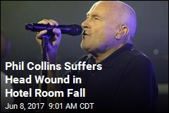 Phil Collins Falls in the Night, Suffers Head Wound