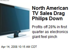 North American TV Sales Drag Philips Down