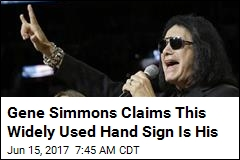 Gene Simmons Claims This Widely Used Hand Sign Is His