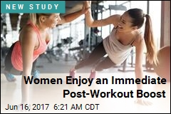 Women Enjoy an Immediate Post-Workout Boost