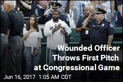 Injured Officer Throws First Pitch at Congressional Baseball Game