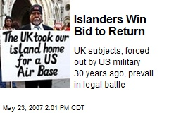 Islanders Win Bid to Return