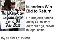Islanders Win Bid to Return