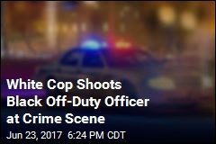 White Cop Shoots Black Off-Duty Officer at Crime Scene