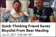 Bicyclist Uses Bear Spray to Save Friend in Mauling