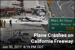 Plane Crashes on California Freeway