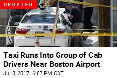 Taxi Hits Pedestrians Near Boston's Logan Airport