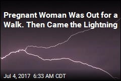 Pregnant Woman Out for a Walk Hit by Lightning