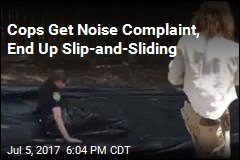 Cops Get Noise Complaint, End Up Slip-and-Sliding
