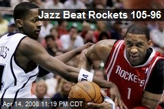Jazz Beat Rockets 105-96