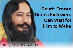 Body of Indian Guru Will Stay in Freezer