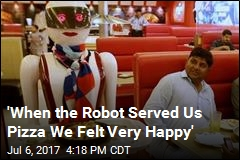 Robot Waitress Draws Diners to Pakistani Pizza Joint