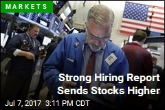 Strong Hiring Report Sends Stocks Higher