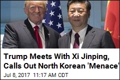 Trump Calls Out North Korea as He Meets With Xi Jinping