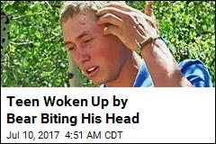 Teen Woken Up by Bear Biting His Head