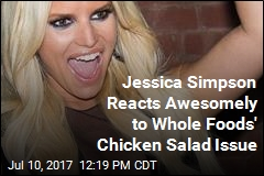 Jessica Simpson Reacts Awesomely to Whole Foods' Chicken Salad Issue