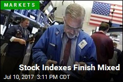 Stock Indexes Finish Mixed