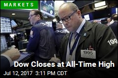 Dow Closes at All-Time High