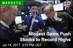 Modest Gains Push Stocks to Record Highs