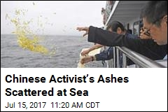 Chinese Activist's Ashes Scattered at Sea