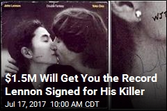 Album John Lennon Signed for Killer on Sale for $1.5M