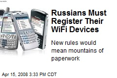 Russians Must Register Their WiFi Devices