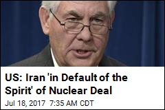 Wary US Certifies That Iran Is Abiding by Nuclear Deal
