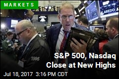 S&P 500, Nasdaq Close at New Highs