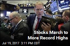 Stocks March to More Record Highs