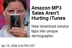 Amazon MP3 Sales Aren't Hurting iTunes