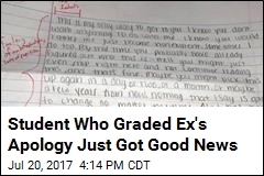 Student Who Gave Ex's Apology a D- No Longer Suspended