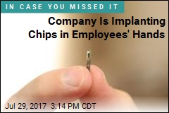 Tech Company Is First in US to Chip Employees