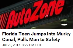 Florida Teen Jumps Into Murky Canal, Pulls Man to Safety