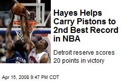 Hayes Helps Carry Pistons to 2nd Best Record in NBA